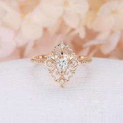Women's Rose Gold Filled Jewelry Wedding Rings White Sapphir