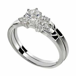 women s round cut aaa cz stainless
