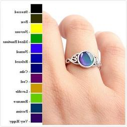 Women's Temperature Color Changing Heart Shaped Mood Ring Cr